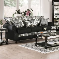 SM4438 KENNA BLACK SOFA