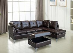 S7605 Sectional with Ottoman