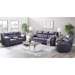 1500 Telluride Indigo Reclining Sofa and Love