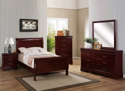 Cherry Louis Philippe Twin Bed