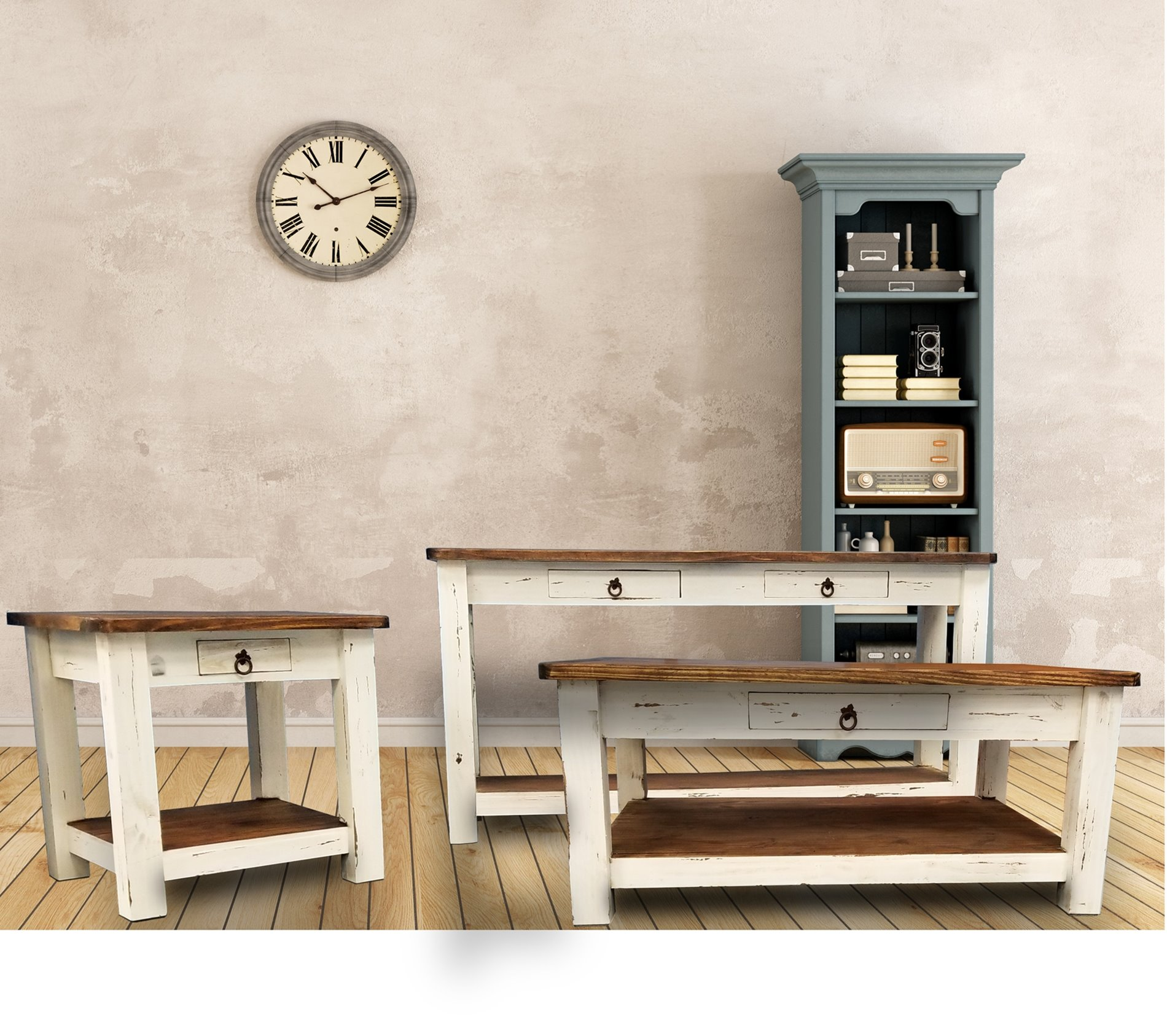 MO-1 White Rustic Tables