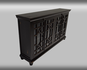 Rubbed Black Console